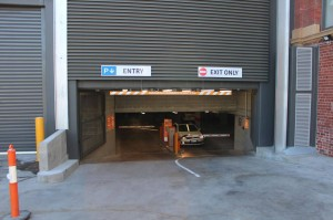 Coles Richmond Icon car park entry