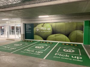 Woolworths online order pickup parking