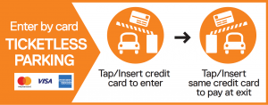 Ticketless Parking - Credit card only